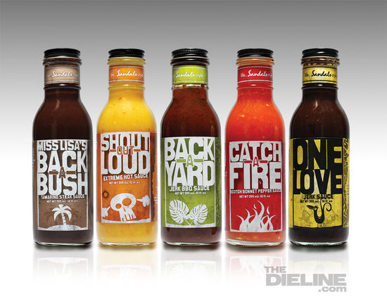 Resorts caribbean sauces the dieline branding amp packaging design