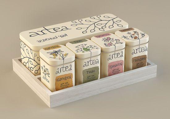 Artea_set with green tea