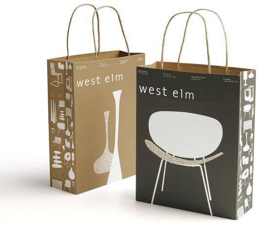 West Elm Shopping Bag — The Dieline   Packaging & Branding Design ...