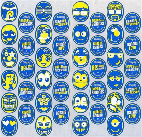 Chiquita-banana-redesign-sticker-faces-set