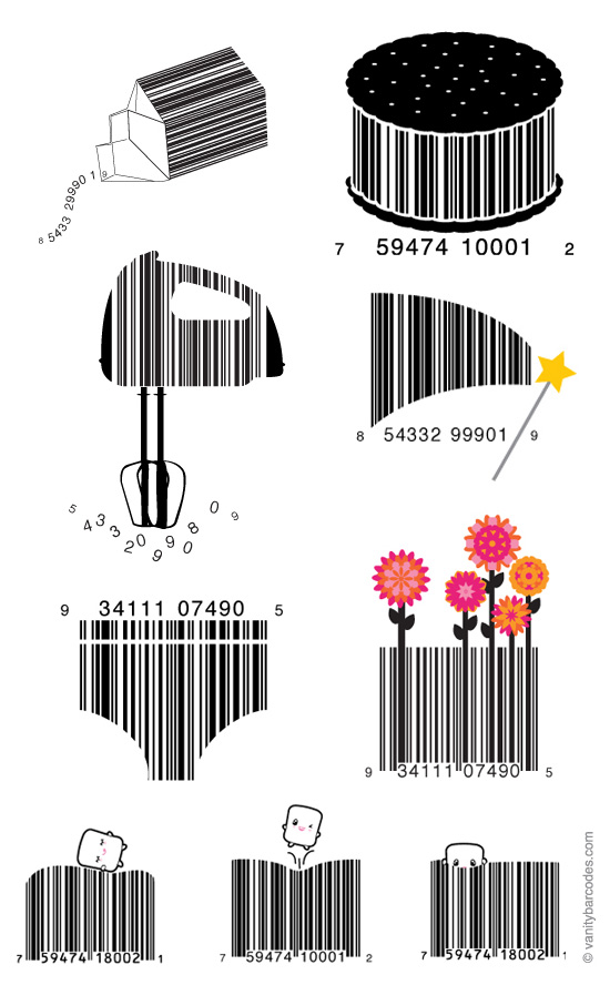 Vanity barcodes — the dieline packaging branding