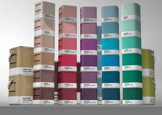 pantone home paint concept the dieline packaging branding design innovation news. Black Bedroom Furniture Sets. Home Design Ideas
