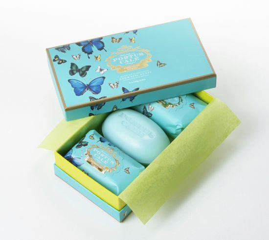 PORTUS CALE butterflies soap set