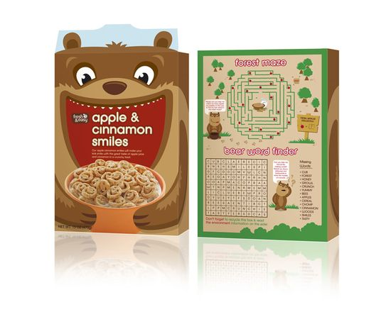 F&E Kids Cereals Back Panel